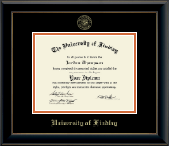 The University of Findlay Diploma Frame - Gold Embossed Diploma Frame in Onyx Gold