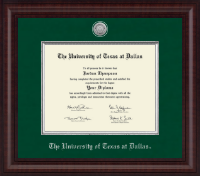 The University of Texas at Dallas Diploma Frame - Presidential Silver Engraved Diploma Frame in Premier
