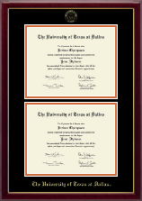 The University of Texas at Dallas Diploma Frame - Double Document Diploma Frame in Gallery