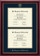 St. Gregory's University Diploma Frame - Double Document Diploma Frame in Gallery