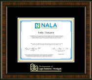 National Association of Legal Assistants & Paralegals Certificate Frame - Gold Embossed Certificate Frame in Brentwood