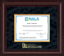 National Association of Legal Assistants & Paralegals Certificate Frame - Presidential Edition Certificate Frame in Premier