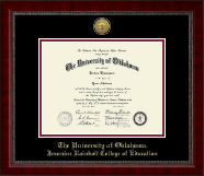 The University of Oklahoma Diploma Frame - Gold Engraved Medallion Diploma Frame in Sutton