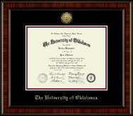 The University of Oklahoma Diploma Frame - Gold Engraved Medallion Diploma Frame in Ridgewood