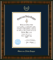 Omicron Delta Kappa Certificate Frame - 8'x10' - Gold Embossed Certificate Frame in Brentwood