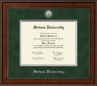 Stetson University Diploma Frame - Presidential Silver Engraved Diploma Frame in Madison