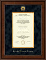 Princeton Theological Seminary Diploma Frame - Presidential Gold Engraved Diploma Frame in Madison