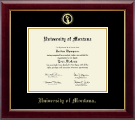 University of Montana Missoula Diploma Frame - Gold Embossed Diploma Frame in Gallery