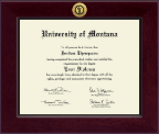 University of Montana Missoula Diploma Frame - Century Gold Engraved Diploma Frame in Cordova