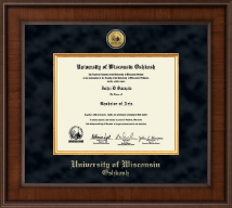 University of Wisconsin Oshkosh Diploma Frame - Presidential Gold Engraved Diploma Frame in Madison