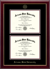 Arizona State University Diploma Frame - Double Document Diploma Frame in Gallery