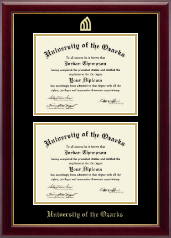 University of the Ozarks Diploma Frame - Double Document Diploma Frame in Gallery
