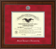 Saint Joseph's University in Pennsylvania Diploma Frame - Presidential Silver Engraved Diploma Frame in Madison