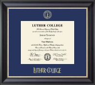 Luther College Diploma Frame - Gold Embossed Diploma Frame in Noir