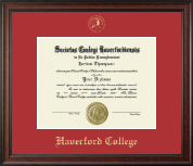 Haverford College Diploma Frame - Gold Embossed Diploma Frame in Studio