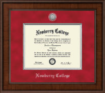 Newberry College Diploma Frame - Presidential Silver Engraved Diploma Frame in Madison