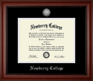 Newberry College Diploma Frame - Silver Engraved Medallion Diploma Frame in Cambridge