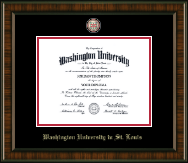 Washington University in St. Louis Diploma Frame - Masterpiece Medallion Diploma Frame in Brentwood