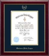 Omicron Delta Kappa Certificate Frame - 8.5'x11' - Gold Embossed Certificate Frame in Gallery