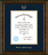 Omicron Delta Kappa Certificate Frame - 8.5'x11' - Gold Embossed Certificate Frame in Brentwood