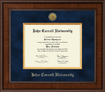 John Carroll University Diploma Frame - Presidential Gold Engraved Diploma Frame in Madison