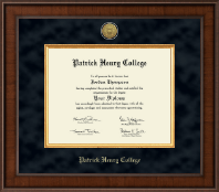 Patrick Henry College Diploma Frame - Presidential Gold Engraved Diploma Frame in Madison