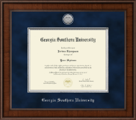Georgia Southern University Diploma Frame - Presidential Silver Engraved Diploma Frame in Madison