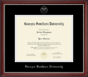 Georgia Southern University Diploma Frame - Silver Embossed Diploma Frame in Kensington Silver