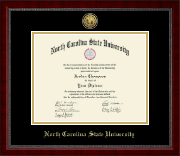 North Carolina State University Diploma Frame - Gold Engraved Medallion Diploma Frame in Sutton