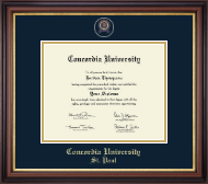Concordia University Saint Paul Minnesota Diploma Frame - Web Only - Pin Edition Diploma Frame in Regency Gold