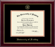 The University of Findlay Diploma Frame - Gold Embossed Diploma Frame in Gallery