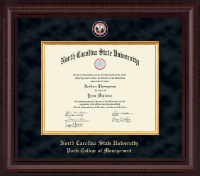 North Carolina State University Diploma Frame - Presidential Masterpiece Diploma Frame in Premier