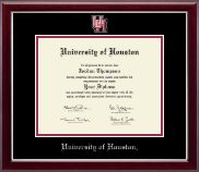 University of Houston Diploma Frame - Spirit Medallion Diploma Frame in Gallery Silver