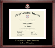 North Carolina State University Diploma Frame - Masterpiece Medallion Diploma Frame in Kensington Gold