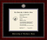 University of Northern Iowa Diploma Frame - Masterpiece Medallion Diploma Frame in Sutton