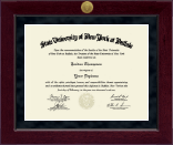 University at Buffalo Diploma Frame - Millennium Gold Engraved Diploma Frame in Cordova