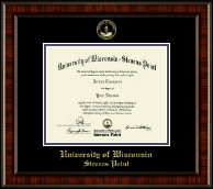 University of Wisconsin Stevens Point Diploma Frame - Gold Embossed Diploma Frame in Ridgewood