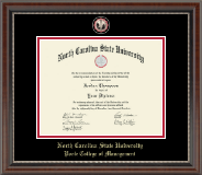 North Carolina State University Diploma Frame - Masterpiece Medallion Diploma Frame in Chateau