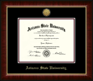 Arizona State University Diploma Frame - Gold Engraved Medallion Diploma Frame in Murano