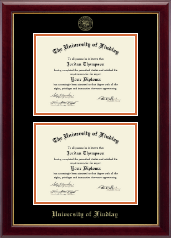 The University of Findlay Diploma Frame - Double Diploma Frame in Gallery