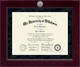 The University of Oklahoma Diploma Frame - Millennium Silver Engraved Diploma Frame in Cordova