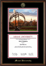 Miami University Diploma Frame - Campus Scene Diploma Frame in Williamsburg