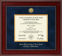 Purchase College State University of New York  Diploma Frame - Presidential Gold Engraved Diploma Frame in Jefferson