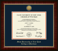 Purchase College Diploma Frame - Gold Engraved Medallion Diploma Frame in Murano