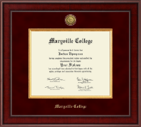 Maryville College Diploma Frame - Presidential Gold Engraved Diploma Frame in Jefferson