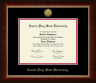Austin Peay State University Diploma Frame - Gold Engraved Medallion Diploma Frame in Murano
