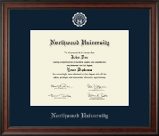 Northwood University in Michigan Diploma Frame - Silver Embossed Diploma Frame in Studio