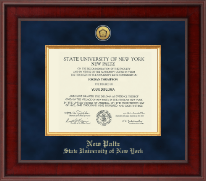 State University of New York  New Paltz Diploma Frame - Presidential Gold Engraved Diploma Frame in Jefferson