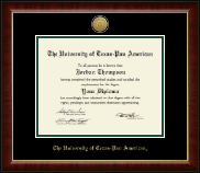 The University of Texas Pan American Diploma Frame - Gold Engraved Medallion Diploma Frame in Murano