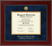 Vanguard University of Southern California Diploma Frame - Presidential Gold Engraved Diploma Frame in Jefferson